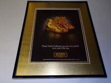 1982 Johnnie Walker Black Label Framed 11x14 ORIGINAL Vintage Advertisement