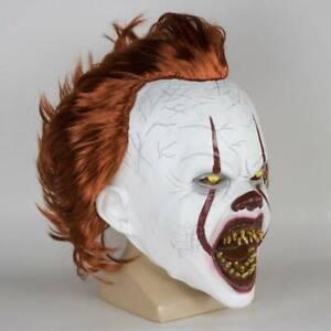 Stephen King's It Mask Pennywise Horror Clown Joker Kids Mask Cosplay Halloween