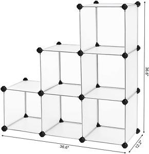 6 Cube Storage Shelving Organizer BookShelf Plastic Cabinet Modular for Home