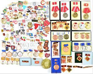 DDR NVA VP KG FJD JP GST Konvolut Abzeichen Medaille Anstecker RAR! 4316
