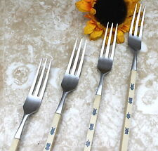 Vintage Stainless Forks with Faux Bone Handle Made in Japan FREE SHIPPING!
