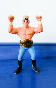 WCW Galoob Sting Figure & Belt. Blue Pants Wrestler WWF WWE