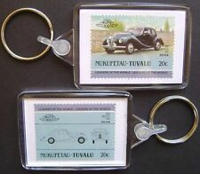 1950 BRISTOL 400 Car Stamp Keyring (Auto 100 Automobile)