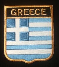 GREECE GREEK HELLENIC NATIONAL COUNTRY FLAG BADGE IRON SEW ON PATCH CREST SHIELD