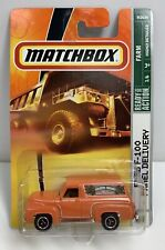 Matchbox Orange Ford F-100 Panel Delivery Farmers Market Organic Die-cast NOS