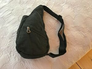 Classic Healthy Back Bag by AmeriBag - Distressed Nylon Extra Small – Black