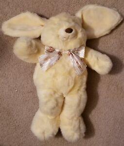 "22"" Yellow Ribbon Wearing Bunny/Rabbit Stuffed Animal JC Penney & Golden Bear Co"