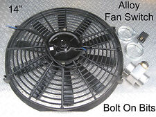 """RDX 14"""" Electric Cooling HELLA Thermostat Radiator Fan Kit Discovery 1 200Tdi"""