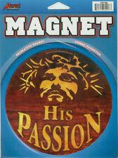 "Magnet  Huge ""His Passion""Christian Devotion for  Autos,Lockers,Refrigerators+"