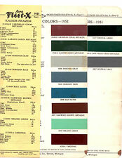 1951 KAISER FRAZER HENRY J VIRGINIAN MANHATTAN VAGABOND 51 PAINT CHIPS ACME 8