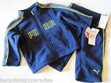 NWT PUMA Fleece Jogging Athletic Suit 2 Piece Outfit Baby Infant Boys Set $52
