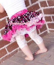 Newborn Baby Hot Light Pink Sweet Heart Pettiskirt Petti Skirt Tutu Girl 3-12M