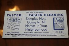 Vtg SING Household Cleaner Hood Chemical Soap Powder Ink Blotter Union Label NOS