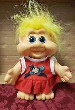 """Vintage 1991 I.T.B. Mrs Christmas Troll 7"""" Yellow Hair"""