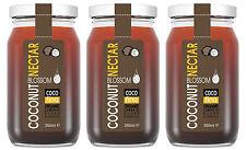 3 X Organic and 100 % natural coconut nectar sugar syrup sweetener 350ML