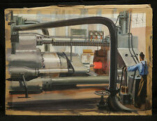 American Illustration Gouache on paper Metallurgi Factory by Dick Sargent