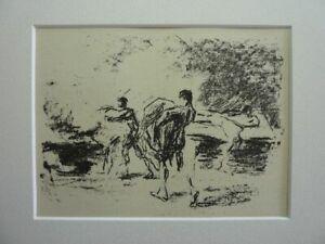 "MAX LIEBERMANN - Original Lithographie 1915 ""Pestleichen"""