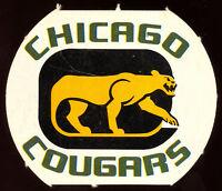 1972 73 OPC O PEE CHEE WHA CHICAGO COUGARS Team Logo EX-NM HOCKEY CARD