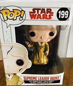 Star Wars Supreme Leader SNOKE 199 Funko Pop' Vinyl Bobble Head Brand New