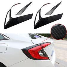 For Honda Civic 10th 16+ Carbon Fiber Tail Light Eyelid Cover Trim Frame Molding