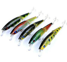 "5PCS Multi Jointed Fishing Lures Crankbait Saltwater Jerkbait 5.5""/21.2g Plastic"