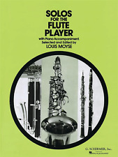 Solos For The Flute Player louis moyse SHEET MUSIC BOOK classique Classics