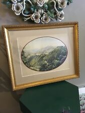 Signed British Victorian 1859 Watercolor View of Shimla Nepal PBS Indian Summers
