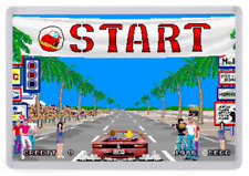 Outrun Arcade Fridge Magnet (Start Line). Retro Gaming
