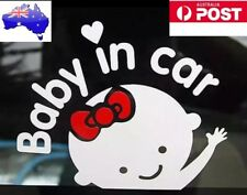 Baby on Board/Baby in Car Vinyl Decal Safe Sign Window Bumper Decal Sticker Girl