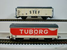 LIMA ITALY Ho (7699) CARRO FRIGO STEF SNCF -CARRO FRIGO TUBORG DSB con scatola