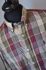 Ralph Lauren brown check shirt size large mod casual western