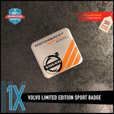 VOLVO Motorsport Edizione Limitata METALLO ADESIVO Badge Emblema Logo XC60 V40 V70 GT