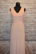 Modcloth Love is Here to Sway NWOT L Soieblu chiffon and crochet peach maxi