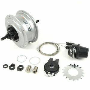 NuVinci N330 CVP Internal Gear Bicycle Rear Hub Silver 36h Disc Brake C3