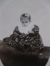 Photographie ancienne CDV petite fille bébé vers 1910
