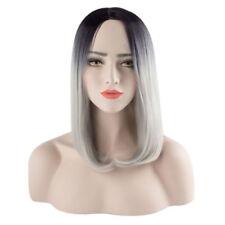 Perruques et toupets noir court ondulés pour femme