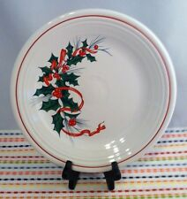 Fiestaware Holly and Ribbon Dinner Plate Fiesta Christmas 10.5 inch Dinner Plate