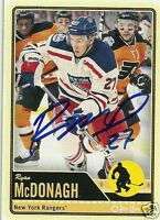 Ryan McDonagh Signed Auto 2012 O-Pee-Chee New York Rangers Card - COA - NHL