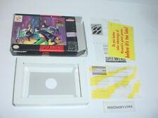 ADVENTURES OF BATMAN & ROBIN -  BOX & INSERTS ONLY Super Nintendo SNES - NO GAME