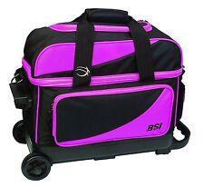 BSI Prestige Double Roller 2 Ball Bowling Bag Black/Pink