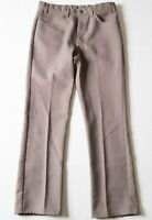Vtg 70s LEVI'S Pants Gray DACRON POLYESTER Leisure suit Disco Retro MENS 34 x 32