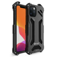 R-JUST Military Light Tough Metal Back Cover for iPhone 12/mini/Pro/Pro Max/11
