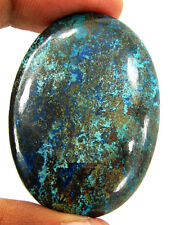 102.55 Ct Natural Blue Azurite Loose Gemstone Cabochon Top Quality Stone - 25513