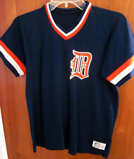 DETROIT TIGERS youth XL nylon jersey Old English D logo Sand Knit kids 1970s OG