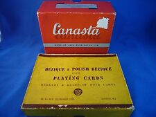 "2 Vintage card games ""Canasta"" & "" Bezique"""