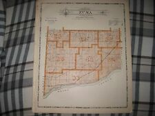 SUPERB ANTIQUE 1905 ZUMA TOWNSHIP CENTER OSBORN ROCK ISLAND COUNTY ILLINOIS MAP