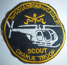 PATCH - Charlie Troop - 1st / 9th CAVALRY - AIR SCOUT RECON - Vietnam War - 3619