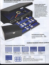 SAFE 6590 Schubladen-Schatulle, II. Wahl mit 3 Schubladen 5654-2 für 8 Slabs