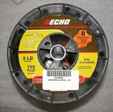 ECHO .105 CROSSFIRE STRING TRIMMER LINE 3 POUND SPOOL 702' PART # 314105055 NEW