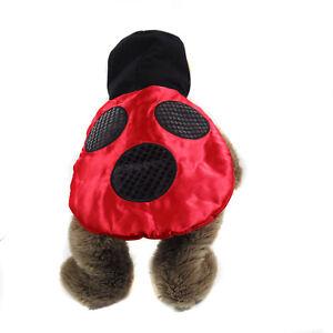 "Halloween Dog Costume Ladybug Medium 14""  to 15"""